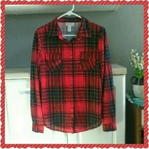 NWOT Red and deep blue flannel
